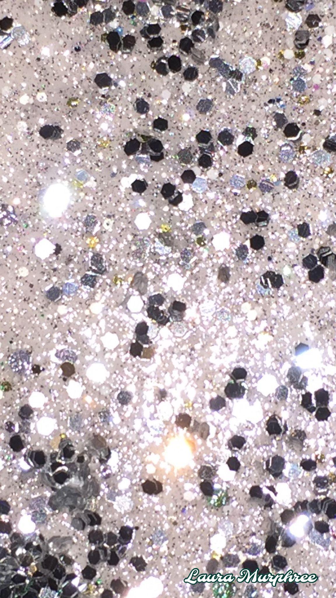 White Glitter Wallpaper Sparkle Background Sparkling Glittery