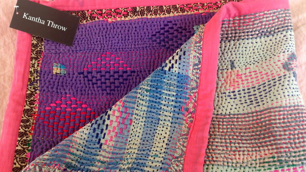 *NEW STOCK* Heavy Weight Vintage Indian Kantha Quilt