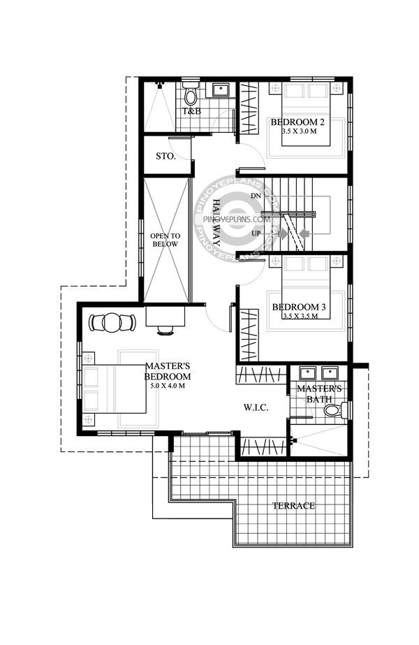 Juliet 2 Story House With Roof Deck Pinoy Eplans Two Story House Plans Story House Modern House Floor Plans