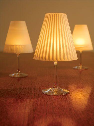 lampenschirme auf weingl ser f r teelicht lampen f e und. Black Bedroom Furniture Sets. Home Design Ideas
