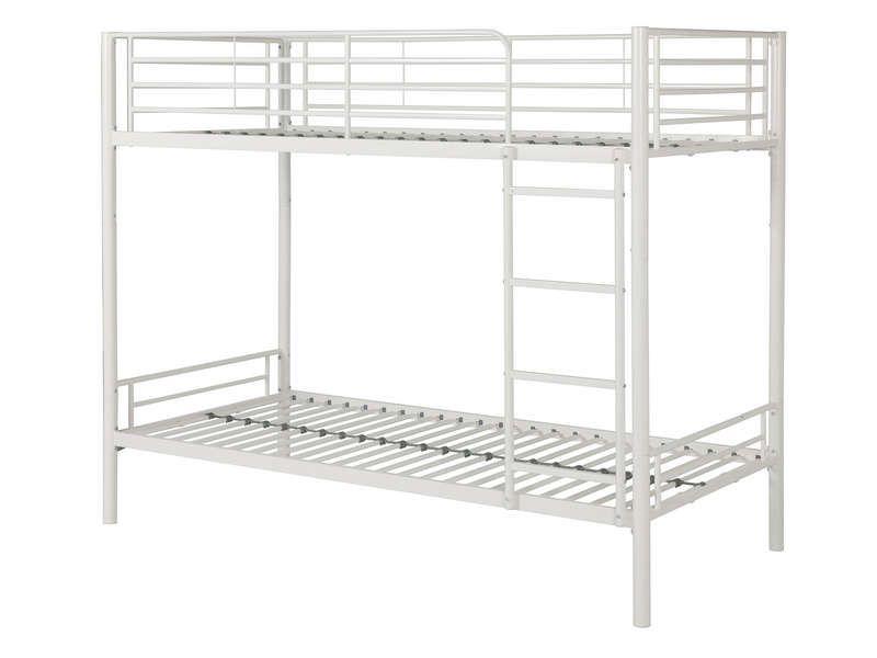 lit superpos 90x190 cm brooke coloris blanc pas cher c 39 est sur large choix. Black Bedroom Furniture Sets. Home Design Ideas