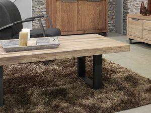Table Basse Quebec En Chene Massif Meuble Pour Le Salon Lotusea Table Basse Table Basse Bois Table Basse En Bois Fonce