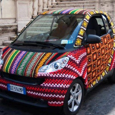 A car with a sweater.