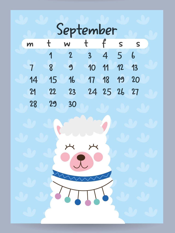 Cute September 2020 Desk Calendar in 2020 | Desk calendars ...