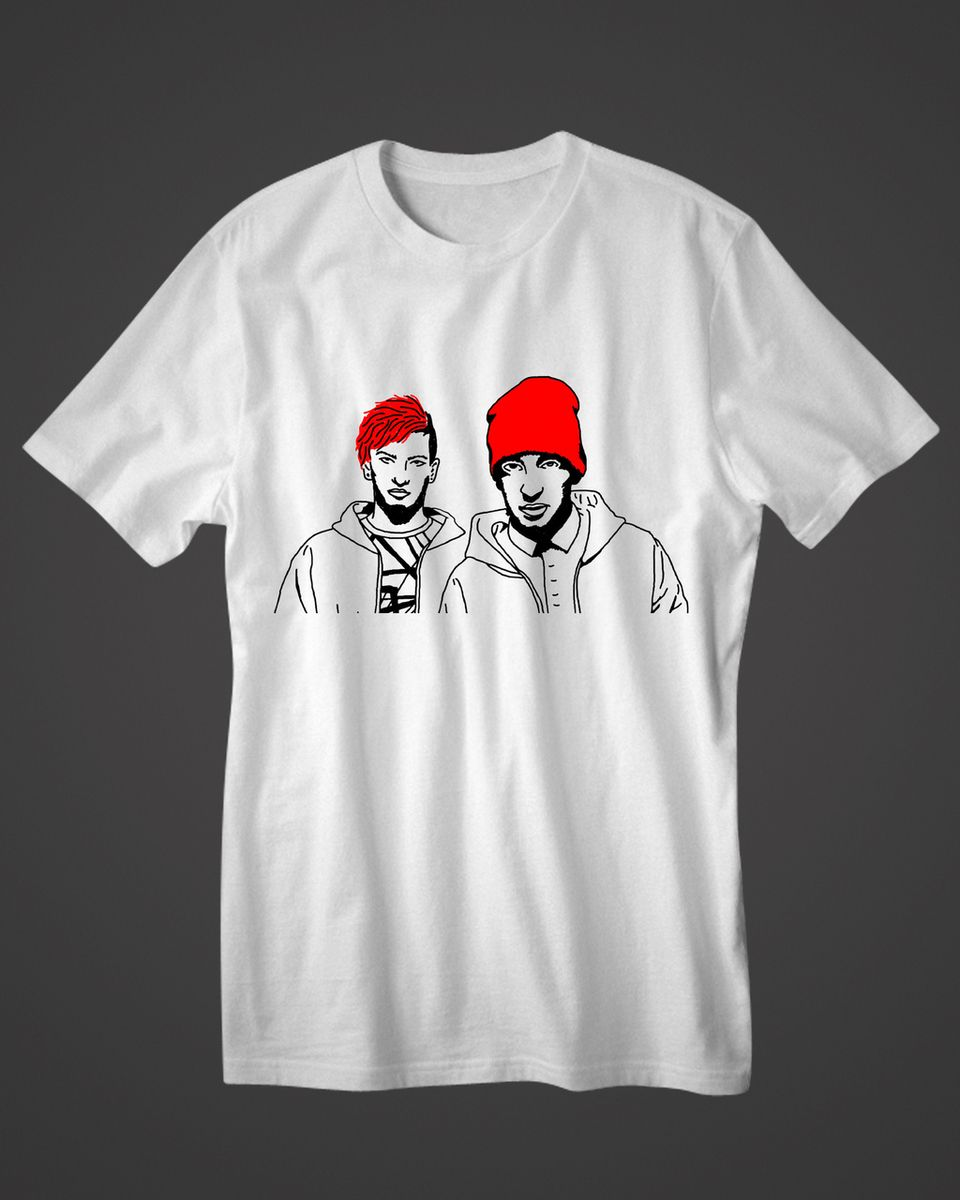 14b358588 Twenty One Pilots Josh Tyler Outline Clothing Men and Women For T-Shirts  V-Neck, Sleeveless, Jersey Polo, Lightweight Tank