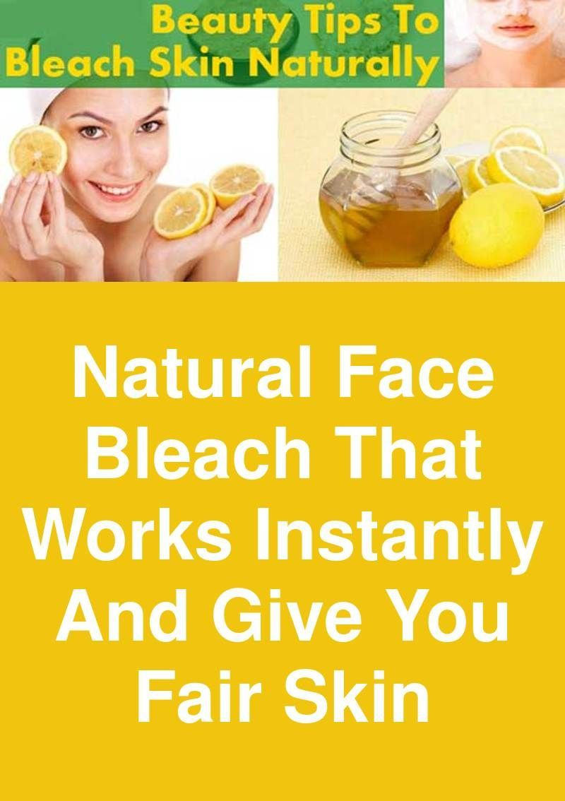 Something and natural facial bleaching