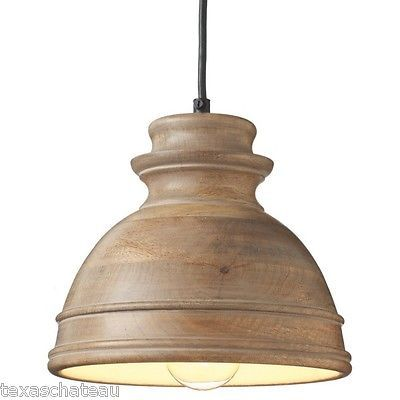 french country style distressed washed wood chandelier light fixture pendant new ebay