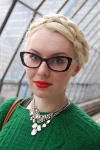 Moños y recogidos retro para las gafas de estilo ojos de gato o mariposa e72b97799114