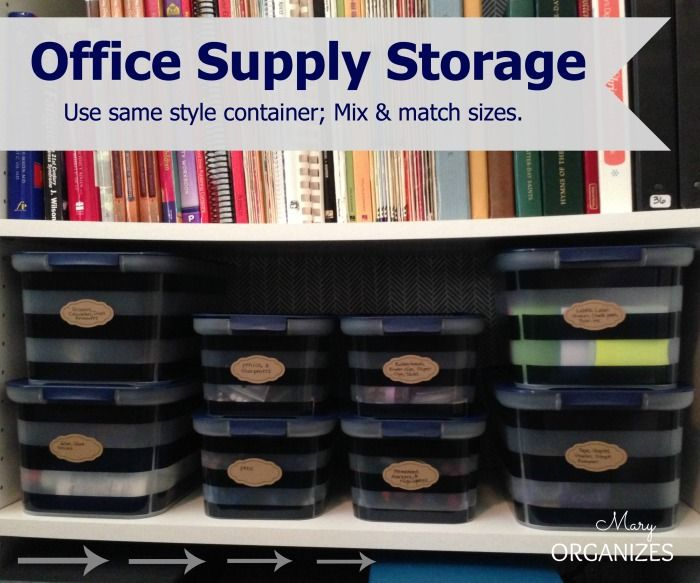 Awesome Office Supply Storage U2026 Use The Same Style Of Container, But Mix And Match  Sizes