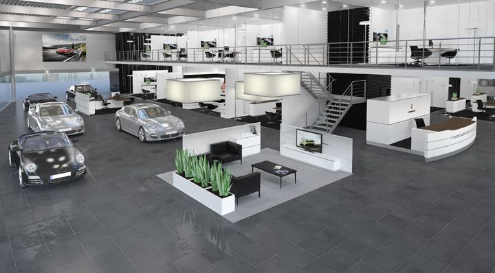 The Porsche Brand Architecture For Its Retail Outlets Is
