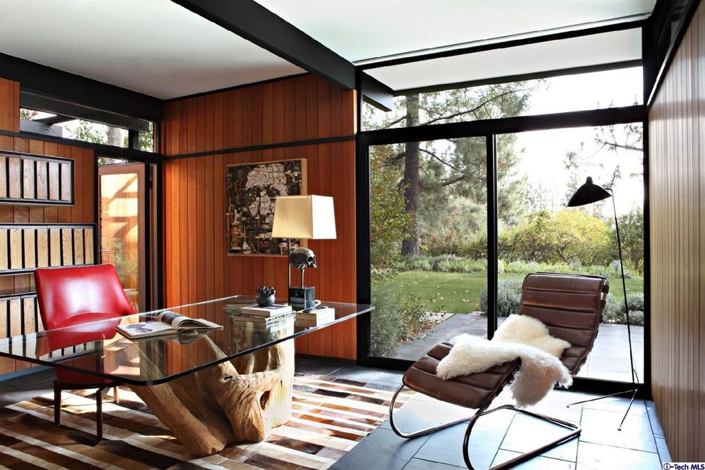 Mid Century Modern Home Office Ideas picture | home | pinterest | study office, mid century and palm