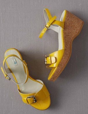 I've spotted this @BodenClothing Seventies Wedges Vintage Yellow