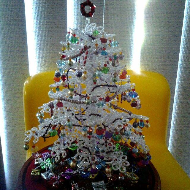 Wonderful Diy Ribbon Beads Christmas Tree: Beaded Christmas Tree.