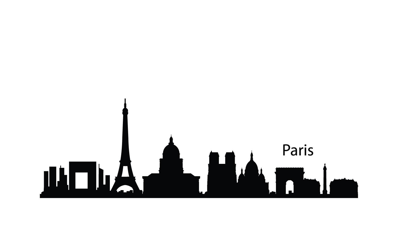 london city skyline silhouette | Paris Skyline Silhouette ...
