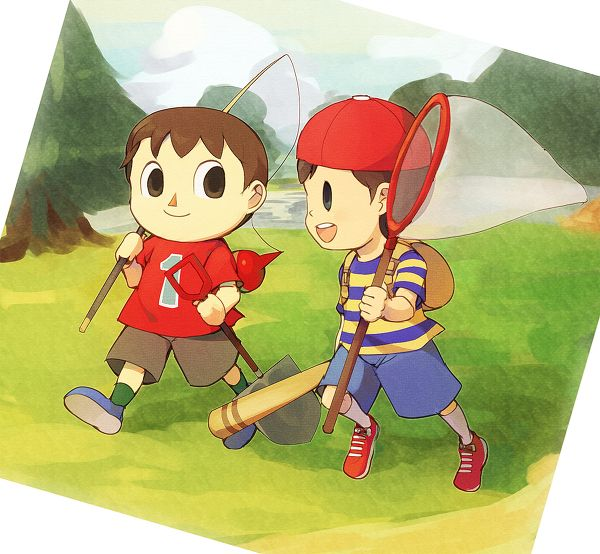 Villager and Ness
