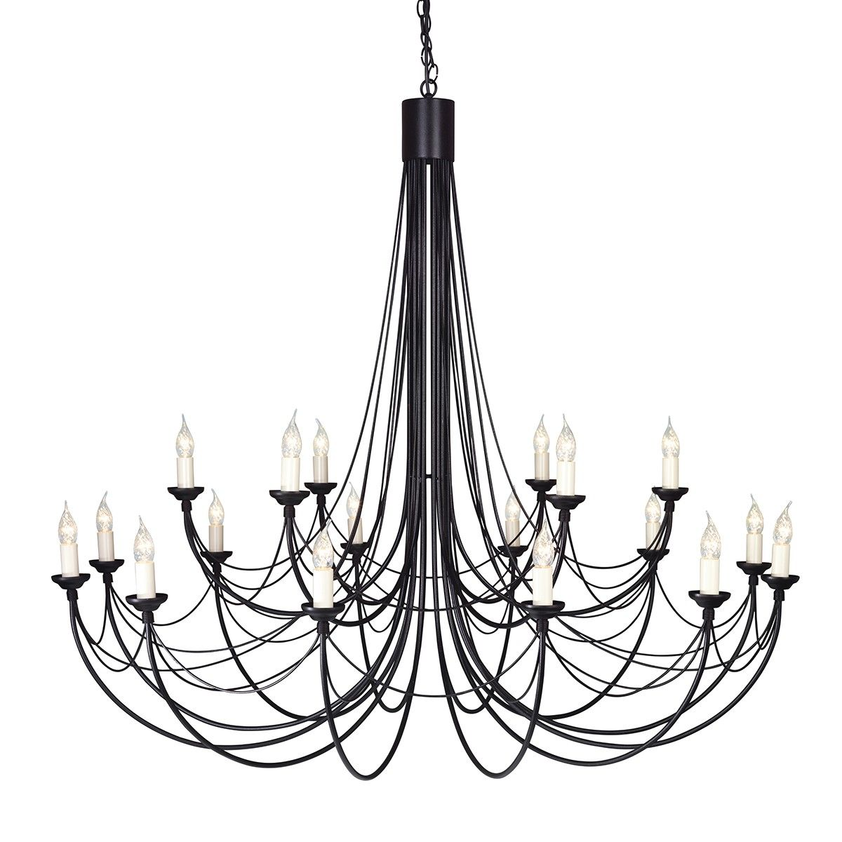 Elstead lighting carisbrooke 18 light ceiling chandelier fitting elstead lighting carisbrooke 18 light ceiling chandelier fitting black cb18 black arubaitofo Image collections