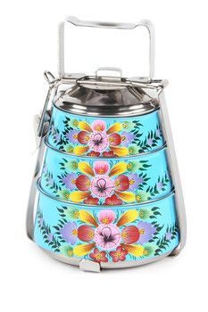 Karma Living Floral 4-Piece Tiffin