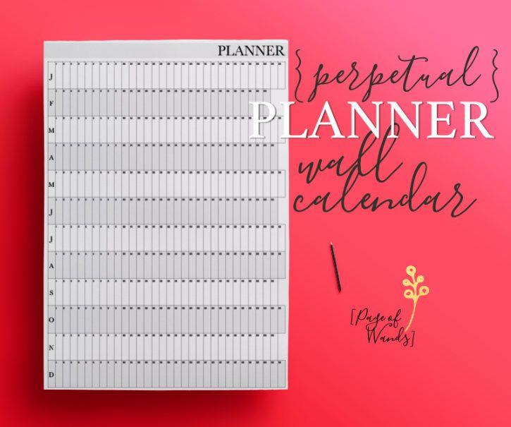Wall Calendar Editable Printable  Black And White  A  Giant