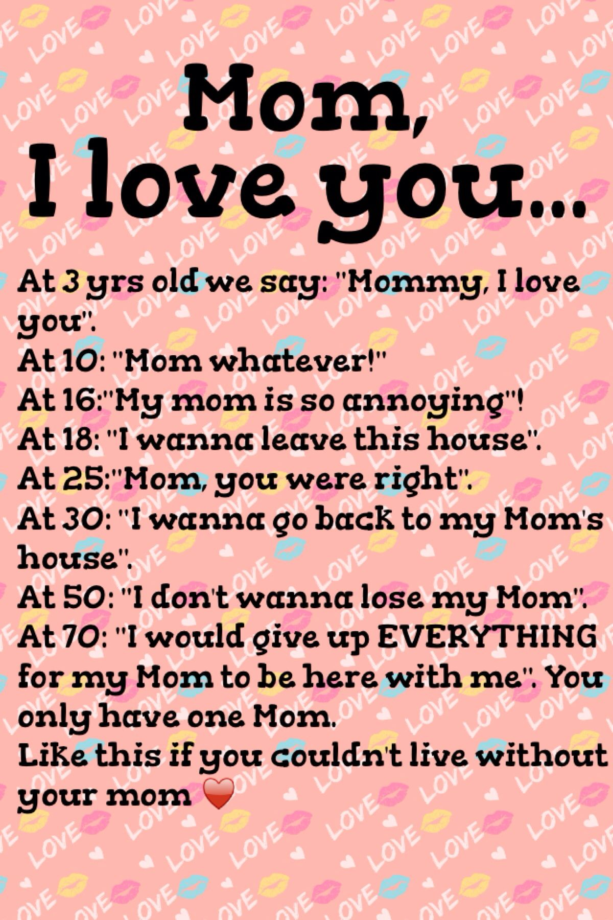 142 Love You Mom Quotes, Saying, Message, Caption (Mother