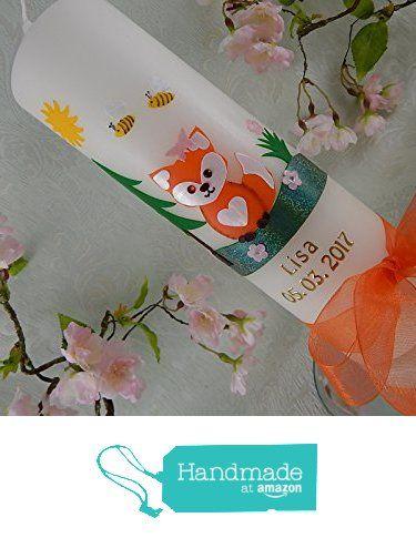 Foto Name Datum Taufkerze Eule rosa pink mit Foto Taufkerzen M/ädchen 250//70 mm inkl