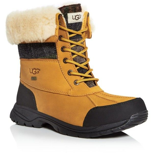 5419dc78a11 Ugg Butte Patchwork Cold Weather Boots ($275) ❤ liked on Polyvore ...