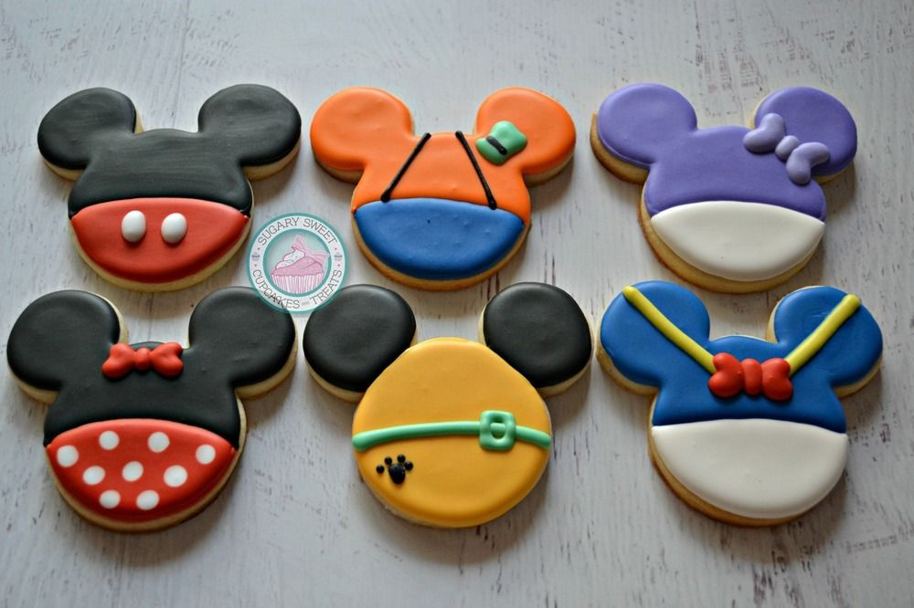 Image of Mouse Clubhouse Inspired Cookies (12 Cookies)