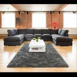 Extra Large New Sofa Set Settee Corner Group U Shape Black 4 0x2 1m U Shaped Corner Sofa Grey Corner Sofa U Shaped Sofa