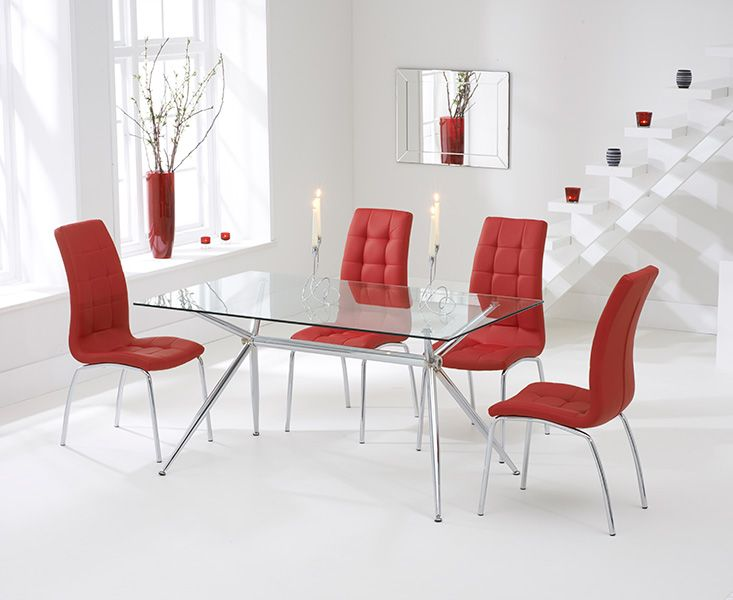 Shop The Savelli Glass Dining Table With Calgary Chairs At Oak Furniture Superstore Quick Delivery APR Available Buy Today
