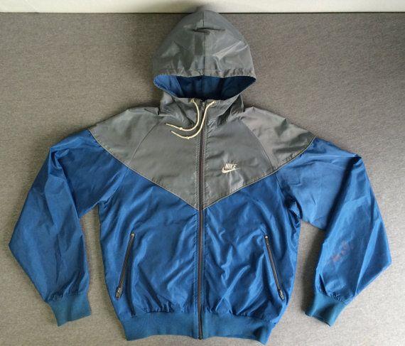 bb229a1c53343 NIKE WINDBREAKER Jacket 80's Vintage Blue Tag/ by sweetVTGtshirt ...