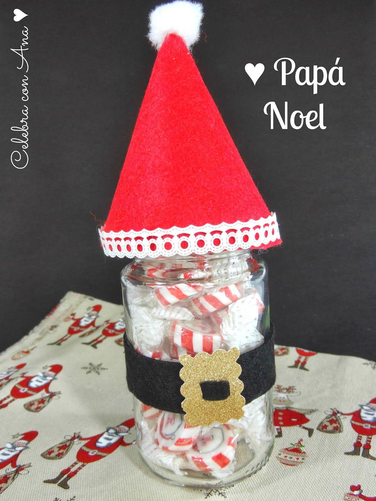Bote Chuches Pap Noel Regalar Chuches Pinterest Pap Noel  ~ Ideas Para Regalar En Navidad Manualidades