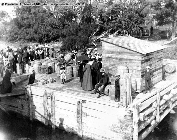 Riverboat Landing On St. John River At Maugerville, Just