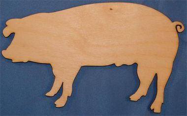This custom made pig is easy to paint or decorate to finish the project that you have started. Don't forget to order the paint and paint supplies so you can get the project completed as soon as they a