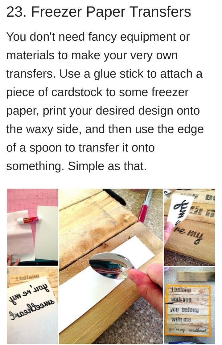 Freezer paper transfer freezer paper transfers freezer