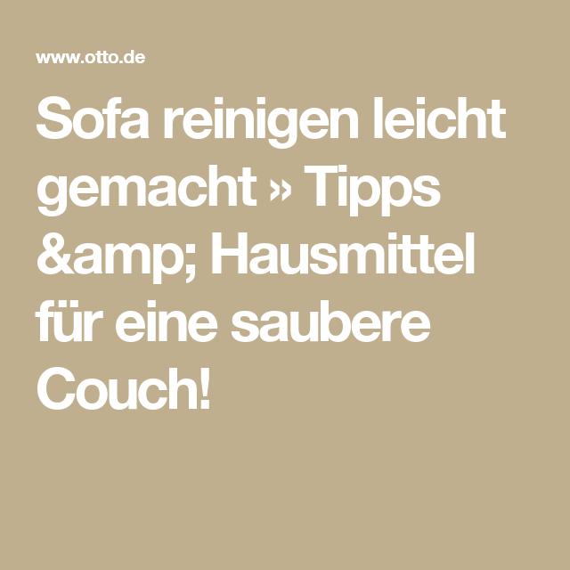 Sofa Reinigen Leicht Gemacht Tipps Fur Deine Couch Polster