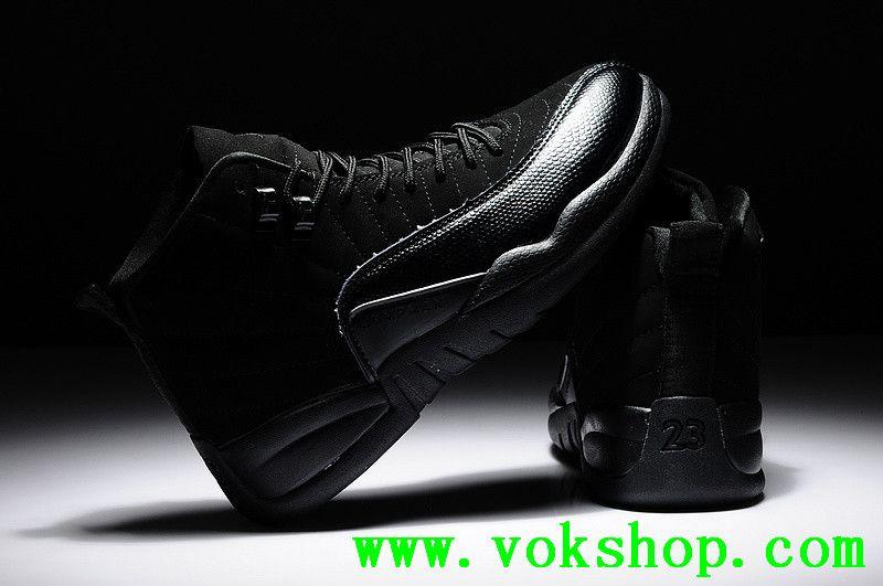 2014 cheap air jordan 12 mens basketball shoes black color good quality for  sale $58.99