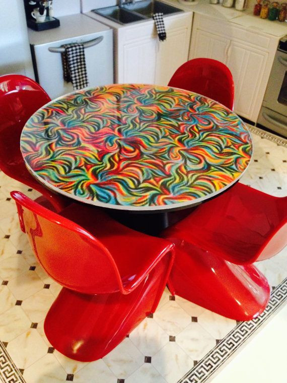 mod barbie kitchen red plastic chairs table contemporary