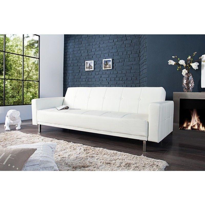 Moderne Witte Slaapbank.Moderne Slaapbank Manhattan 215cm Wit 35847 Designing Sofa