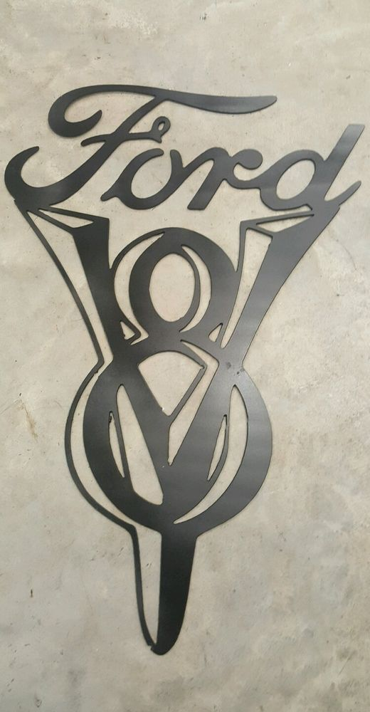 Ford V8 Sign Metal Wall Art Plasma Cut Plasma Cutting
