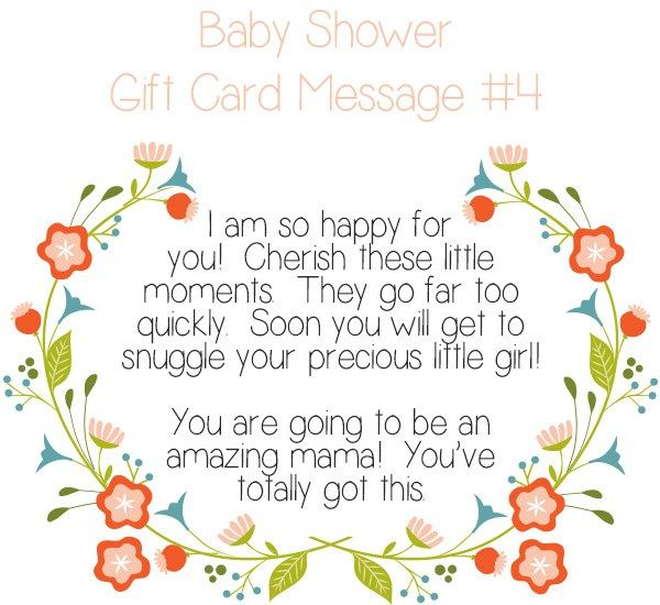 Top 10 Baby Shower Gift Card Message Ideas | Baby shower gifts ...