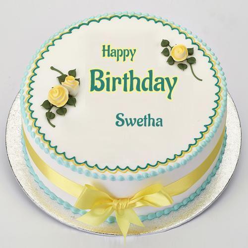 Name Birthday Cake And Birthday Wishes With Custom Name Swetha