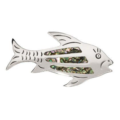 3827454d207 Abalone Shell Inlay Fish Brooch -- Read more at the image link ...
