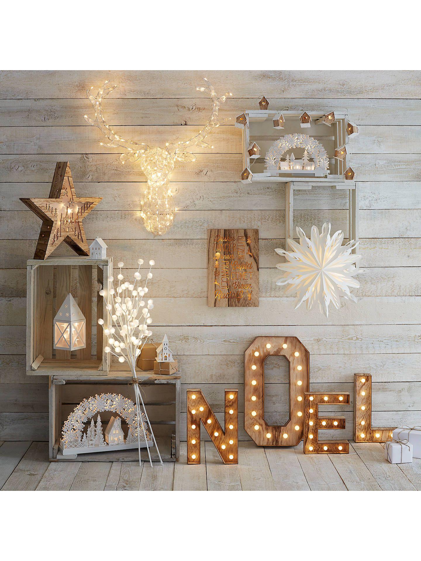 John Lewis Noel Christmas Light Sign Soft White Decorating With Christmas Lights Christmas Interiors Diy Christmas Lights