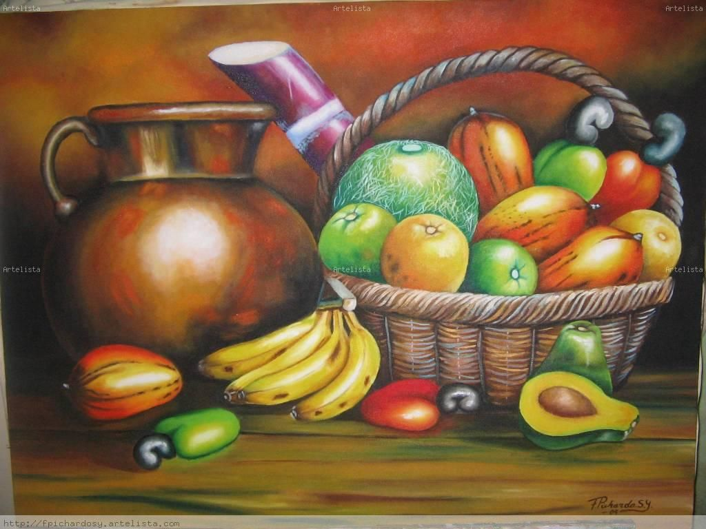 Pinturas Al Oleo De Frutas Grandes