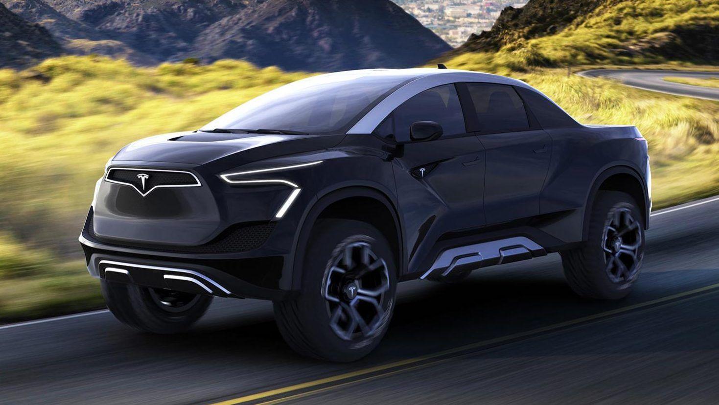 Dit Is De Nieuwe Tesla Pick Up Volgens Een Ontwerper Tesla Ontwerper