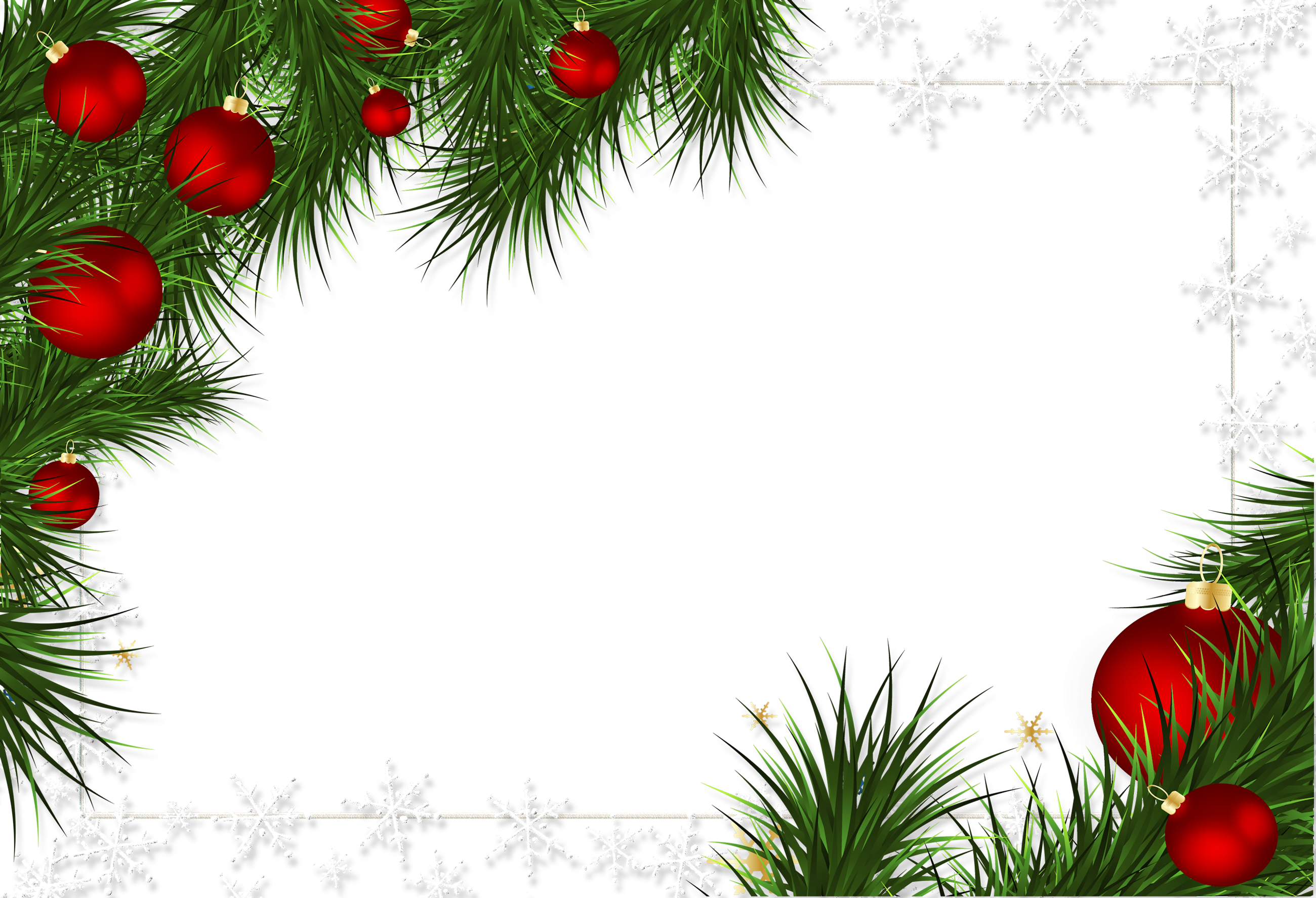 christmas transparent png borders and frames christmas christmas frames frame ornaments pine png transparent png