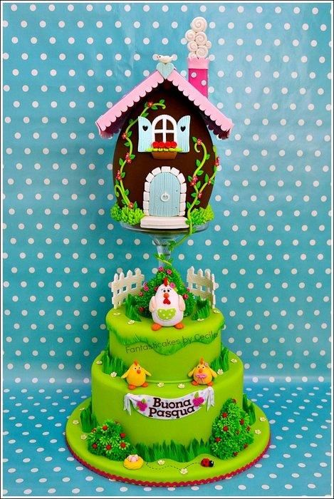 I made this cake and tutorial for the italian magazine, Cucina Chic ...