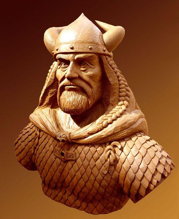 wood carving viking - Google Search