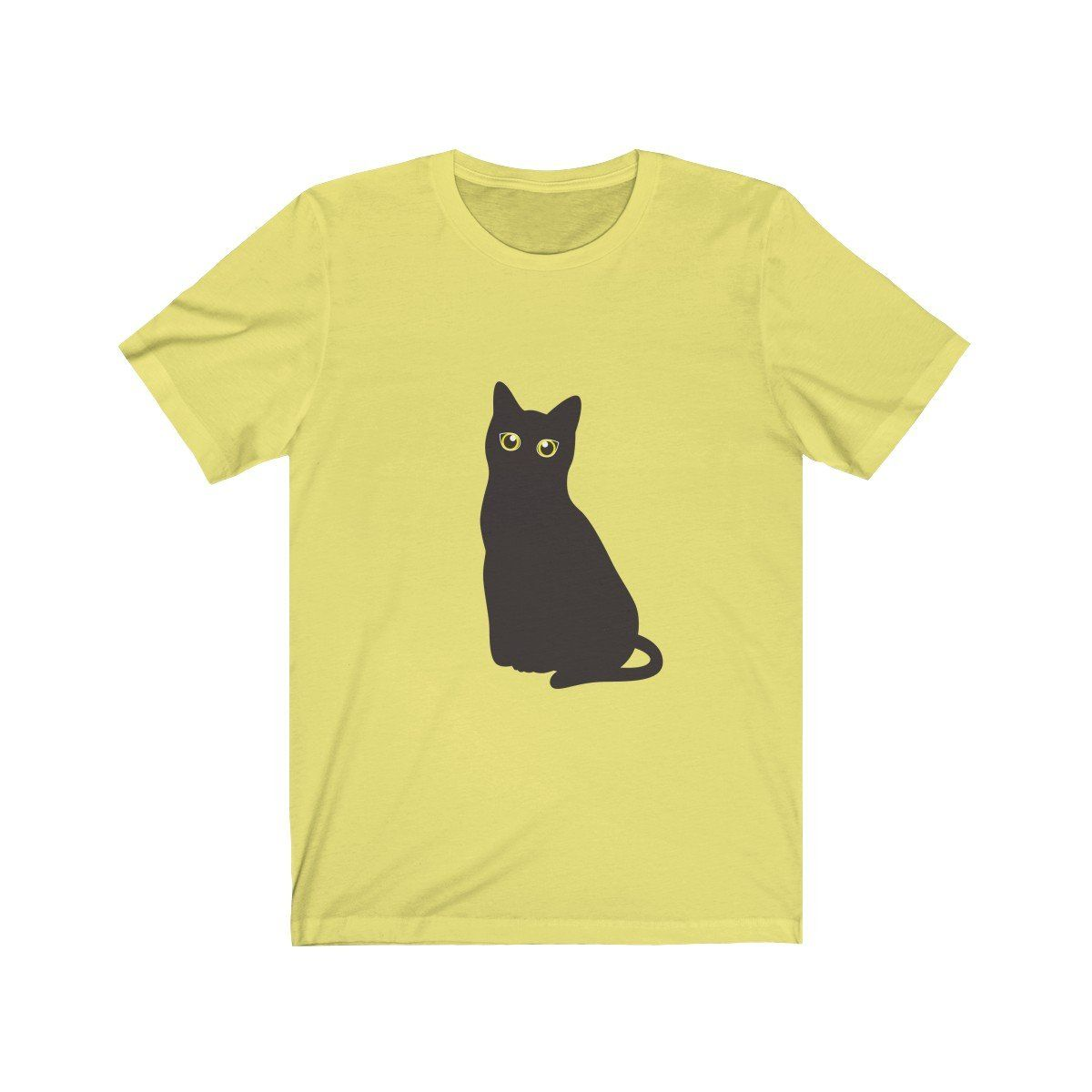 1460c19e Funny Halloween Black Cat With Bright Eyes T-Shirt | Cat Lovers Gift ...