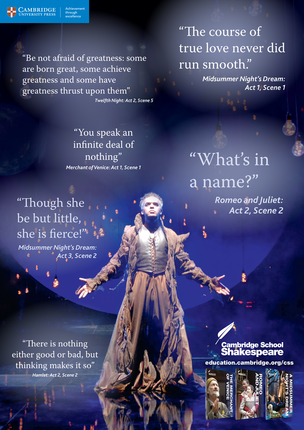 The second in our series of monthly 'Pin & Print' classroom posters! Follow the link to download this free Shakespeare quotes poster and print to A3 for use in your classroom. http://education.cambridge.org/media/1494820/cambridge-school-shakespeare-pinterest-quote-poster.pdf #cambridgeclassroom #schoolshakespeare #engchat