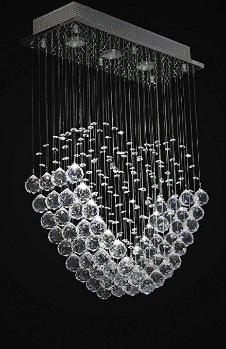 Modern Crystal Chandeliers Lamp Heart shaped Led Ceiling Lights Pendant Light